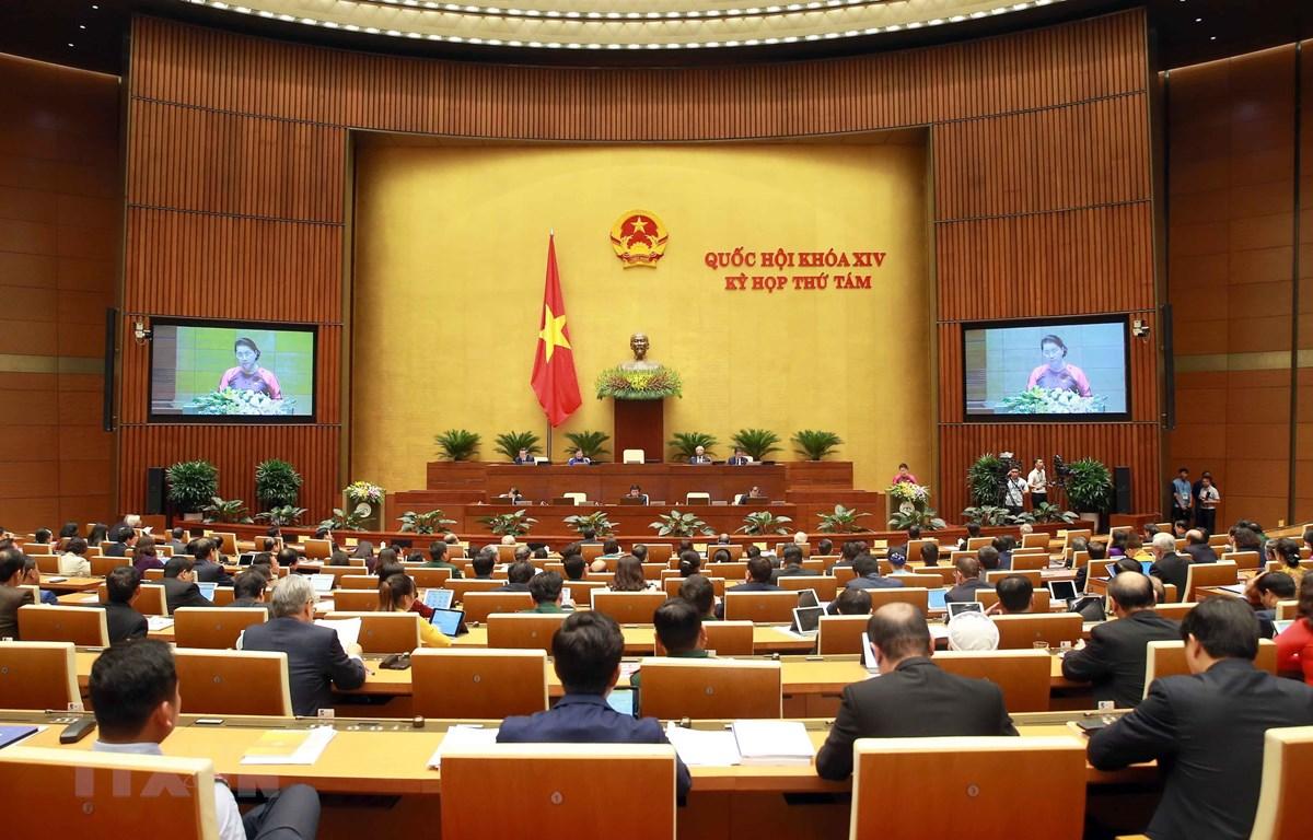 Chủ tịch Quốc hội Nguyễn Thị Kim Ngân phát biểu khai mạc. (Ảnh: Doãn Tấn/TTXVN)