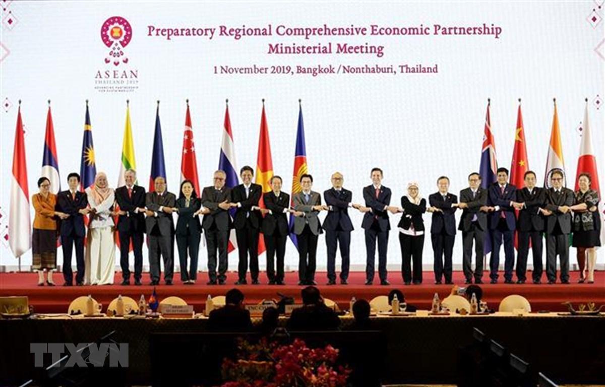 Hội nghị Cấp bộ trưởng về Hiệp định Đối tác kinh tế toàn diện khu vực (RCEP). (Nguồn: Hữu Kiên/TTXVN)