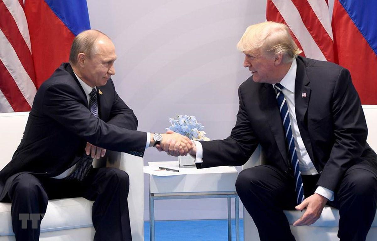 Tổng thống Vladimir Putin và người đồng cấp Mỹ Donald Trump. (Nguồn: AFP)