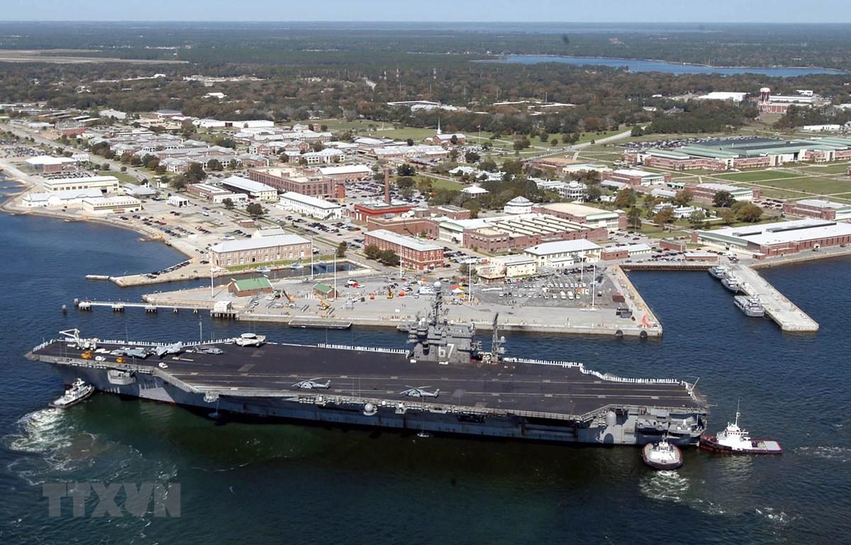 Căn cứ Không quân và Hải quân Pensacola ở bang Florida, Mỹ. (Ảnh: AFP/TTXVN)
