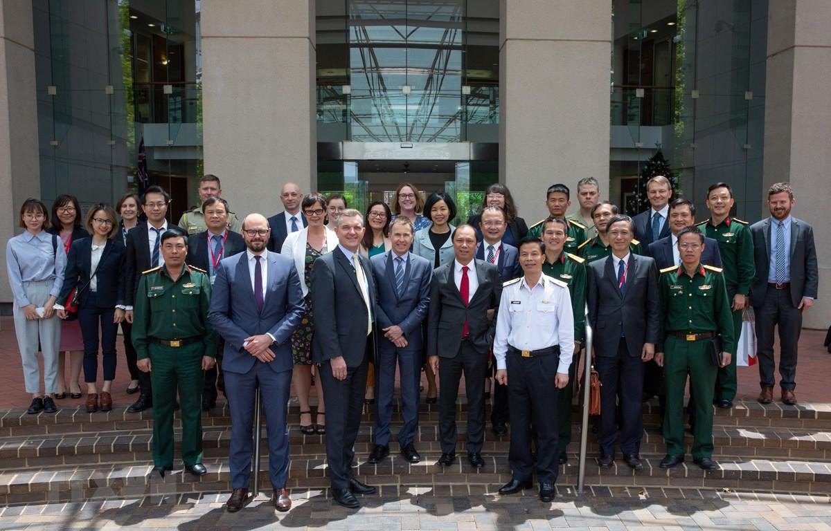 Các đại biểu tham dự Đối thoại chiến lược Ngoại giao-Quốc phòng Việt Nam-Australia lần thứ 7. (Ảnh: Nguyễn Minh/TTXVN)