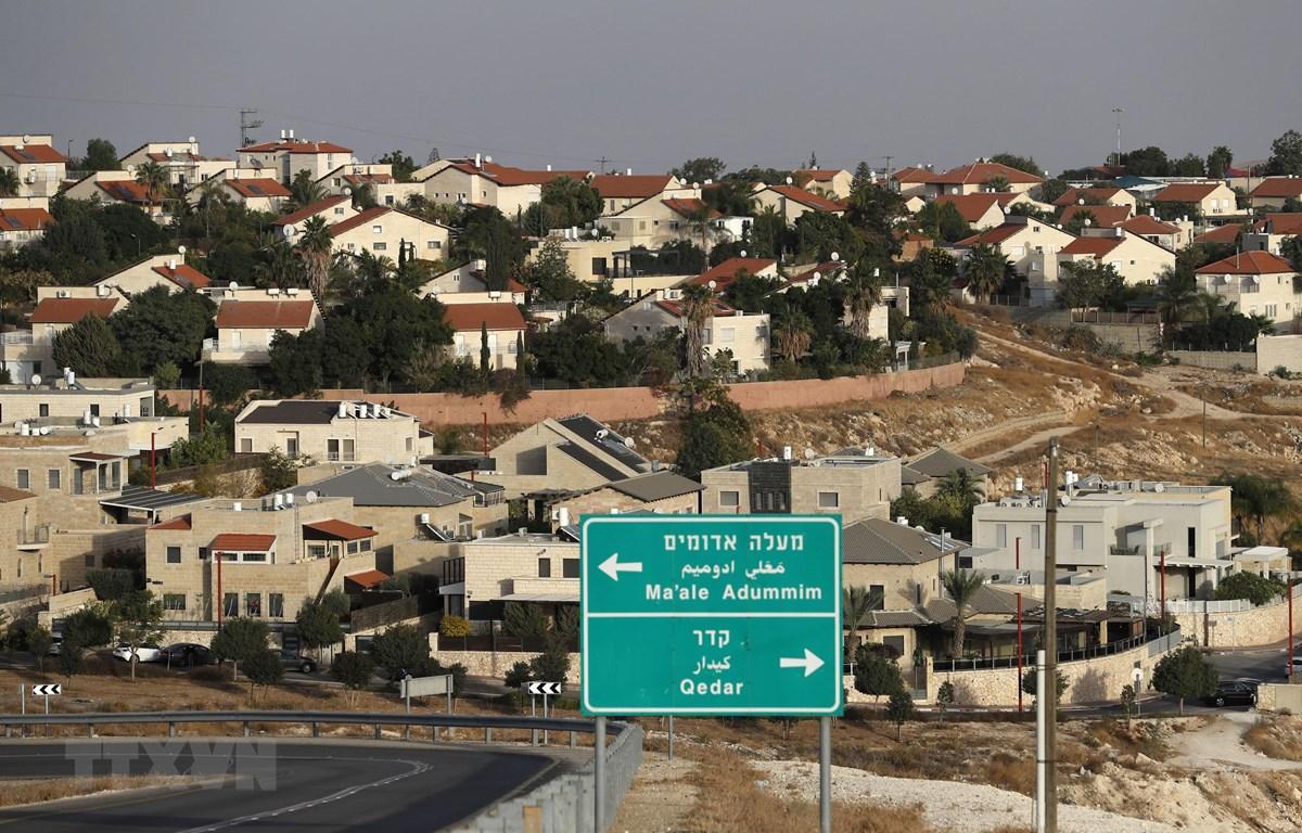 Khu định cư Maale Adumim của Israel tại Khu Bờ Tây chiếm đóng, ngoại ô Jerusalem, ngày 26/11/2019. (Ảnh: AFP/TTXVN)