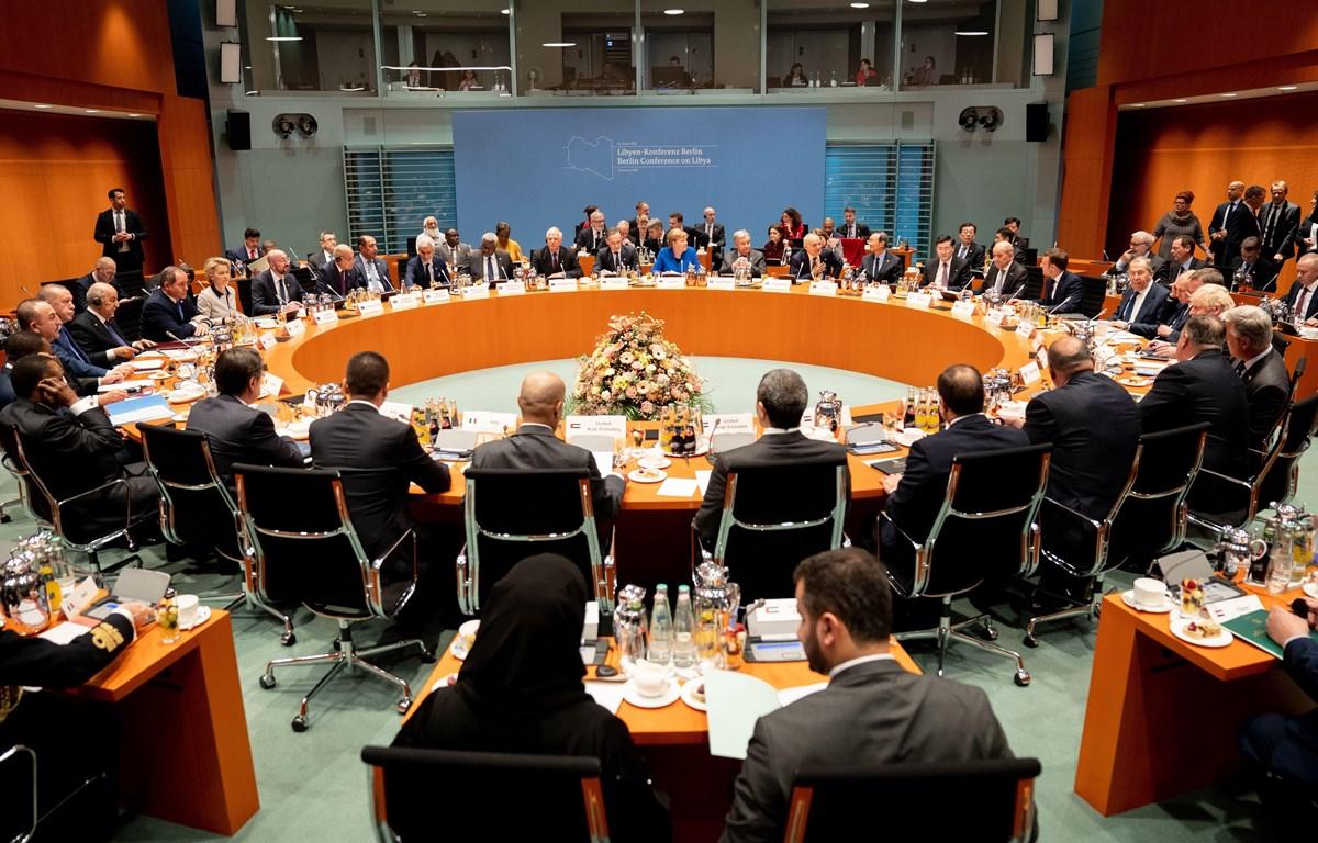 Lãnh đạo các nước tham dự Hội nghị quốc tế về Libya ở thủ đô Berlin, Đức ngày 19/1/2020. (Ảnh: AFP/TTXVN)