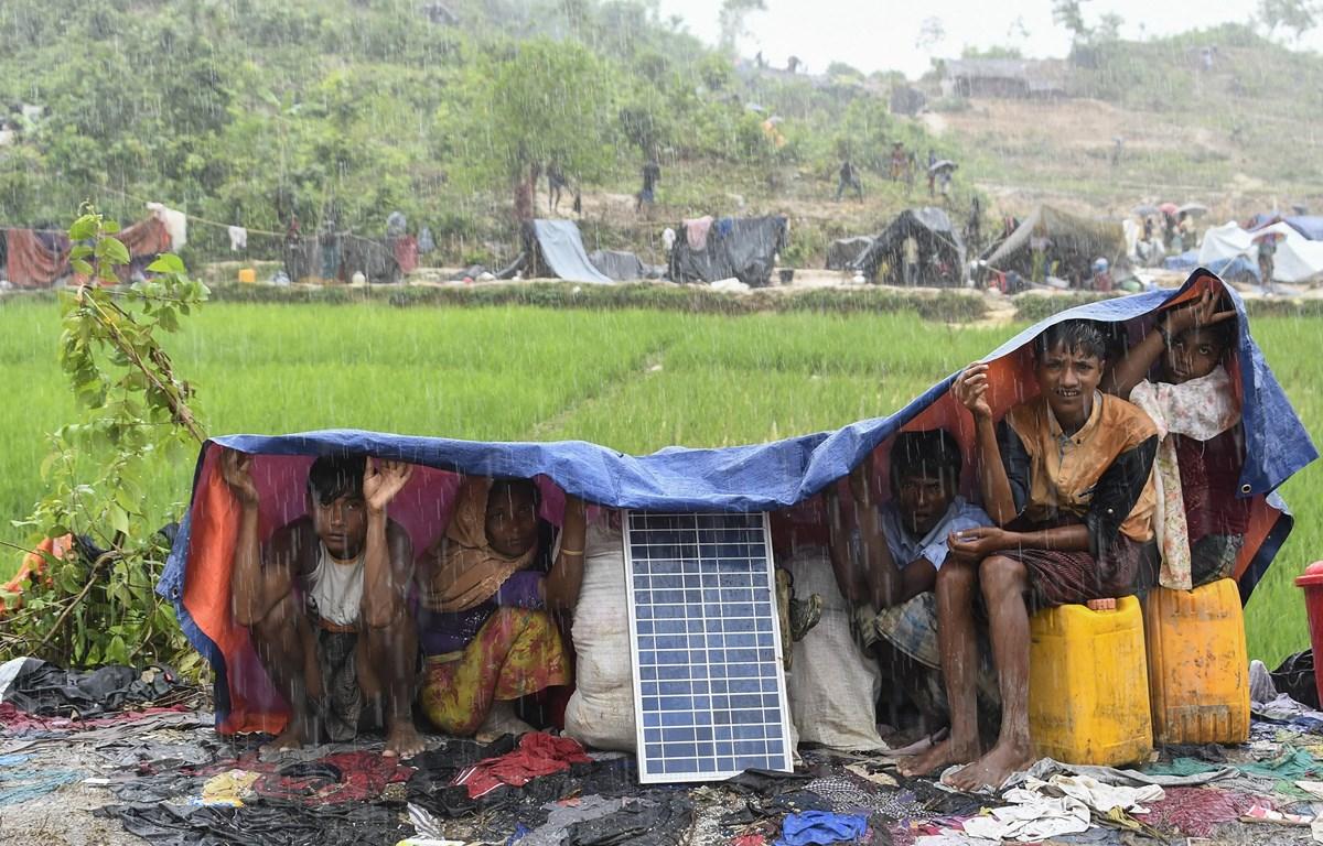 Người tị nạn Rohingya tại trại tị nạn Balukhali, Bangladesh. (Ảnh: AFP/TTXVN)
