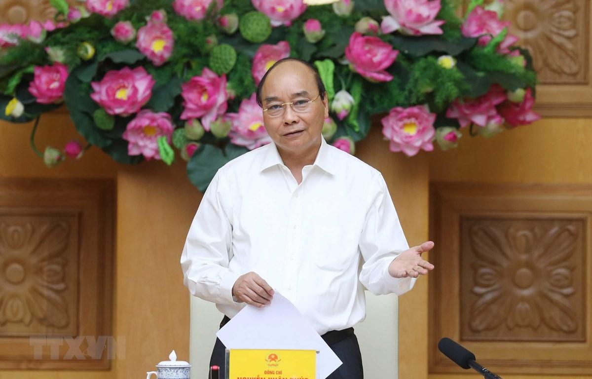 Thủ tướng Nguyễn Xuân Phúc, Chủ tịch Hội đồng phát biểu. (Ảnh: Thống Nhất/TTXVN)