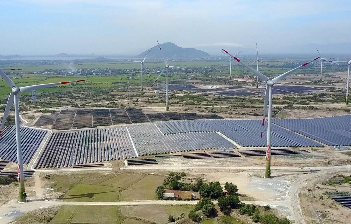 Các dự án năng lượng tái tạo đưa vào vận hành thương mại đã đóng góp đáng kể cho sự phát triển ngành công nghiệp của Ninh Thuận. (Ảnh: Công Thử/TTXVN)