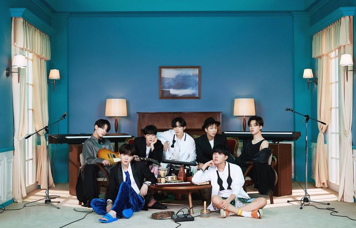 Các thành viên nhóm nhạc BTS. (Ảnh: Yonhap/TTXVN)