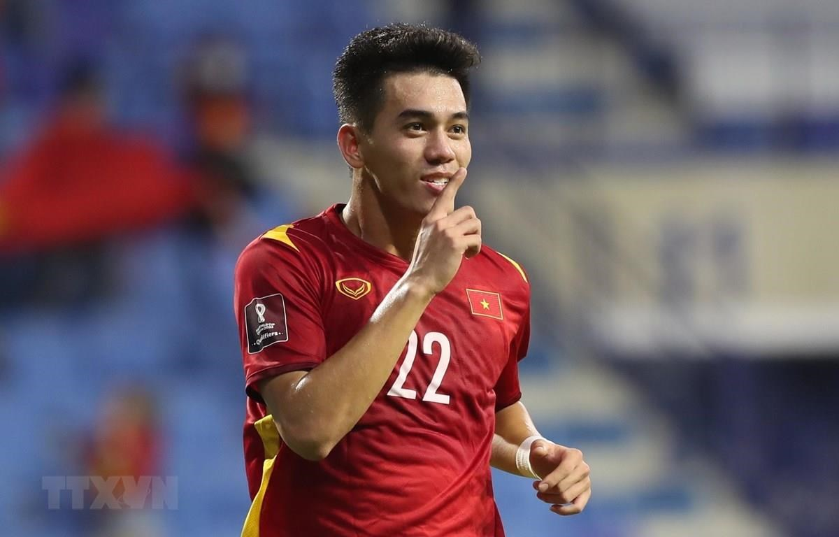 Cầu thủ Tiến Linh. (Ảnh: Hoàng Linh/TTXVN)