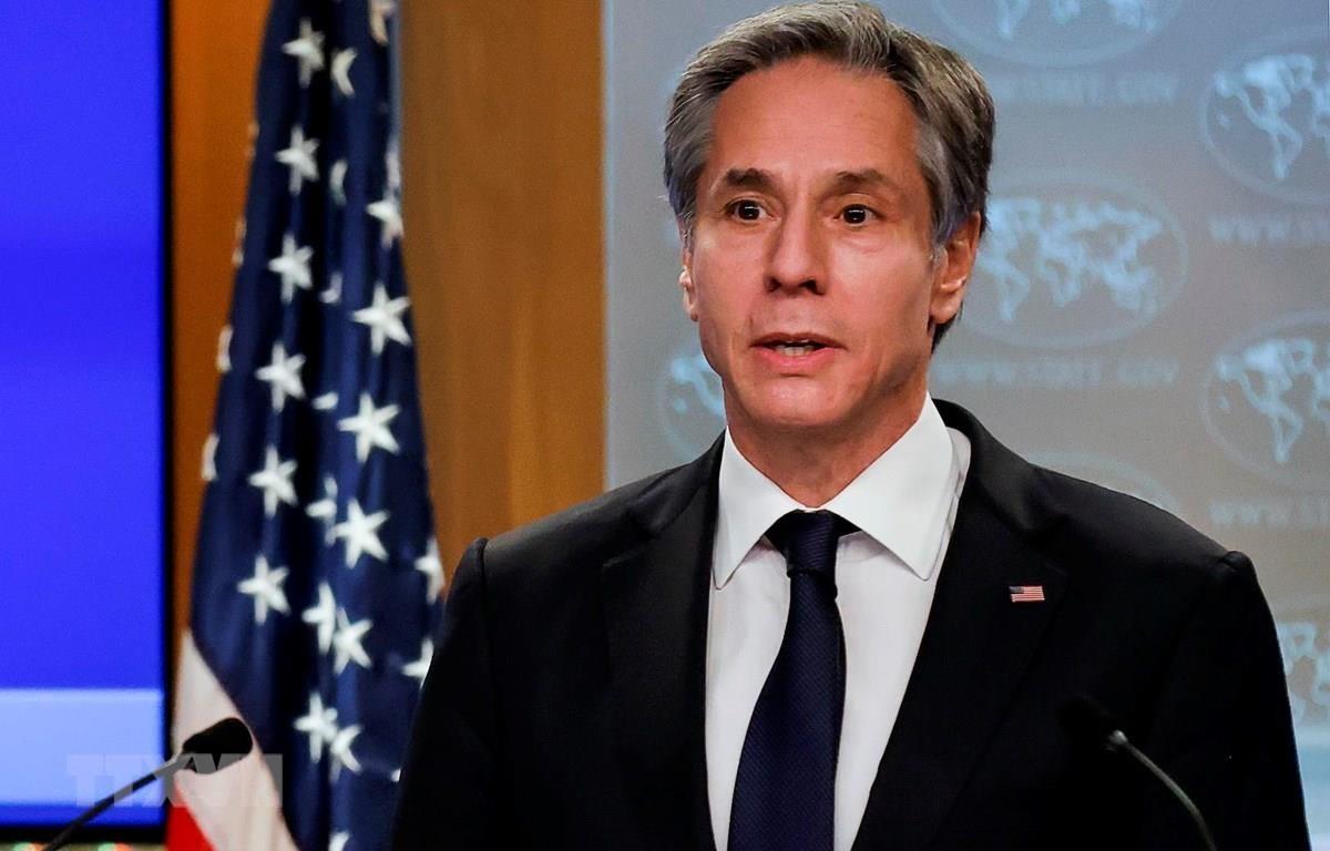 Tân Ngoại trưởng Mỹ Antony Blinken phát biểu trong cuộc họp báo tại Washington, DC, ngày 27/1. (Ảnh: AFP/TTXVN)