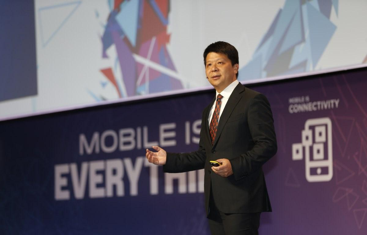 Chủ tịch điều hành luân phiên Huawei Guo Ping. (Nguồn: pr.euractiv.com)