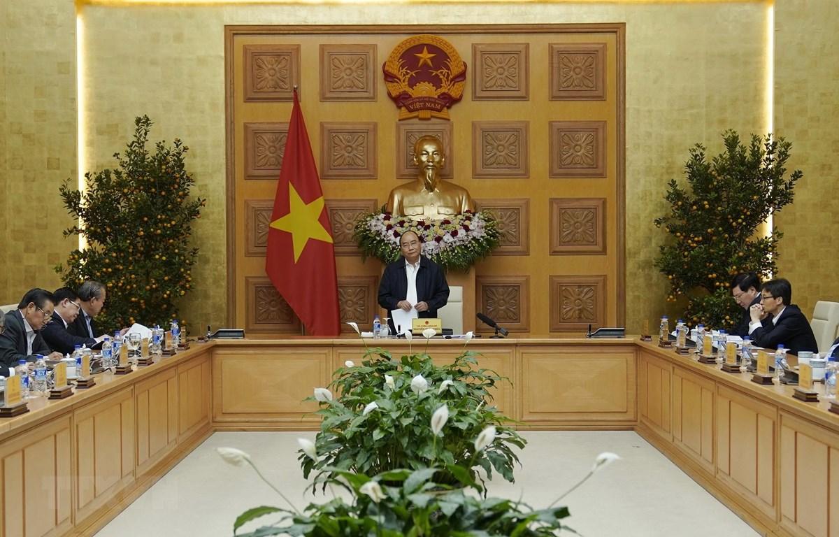 Thủ tướng Nguyễn Xuân Phúc, Trưởng Tiểu ban kinh tế - Xã hội phát biểu. (Ảnh: Thống Nhất/TTXVN)