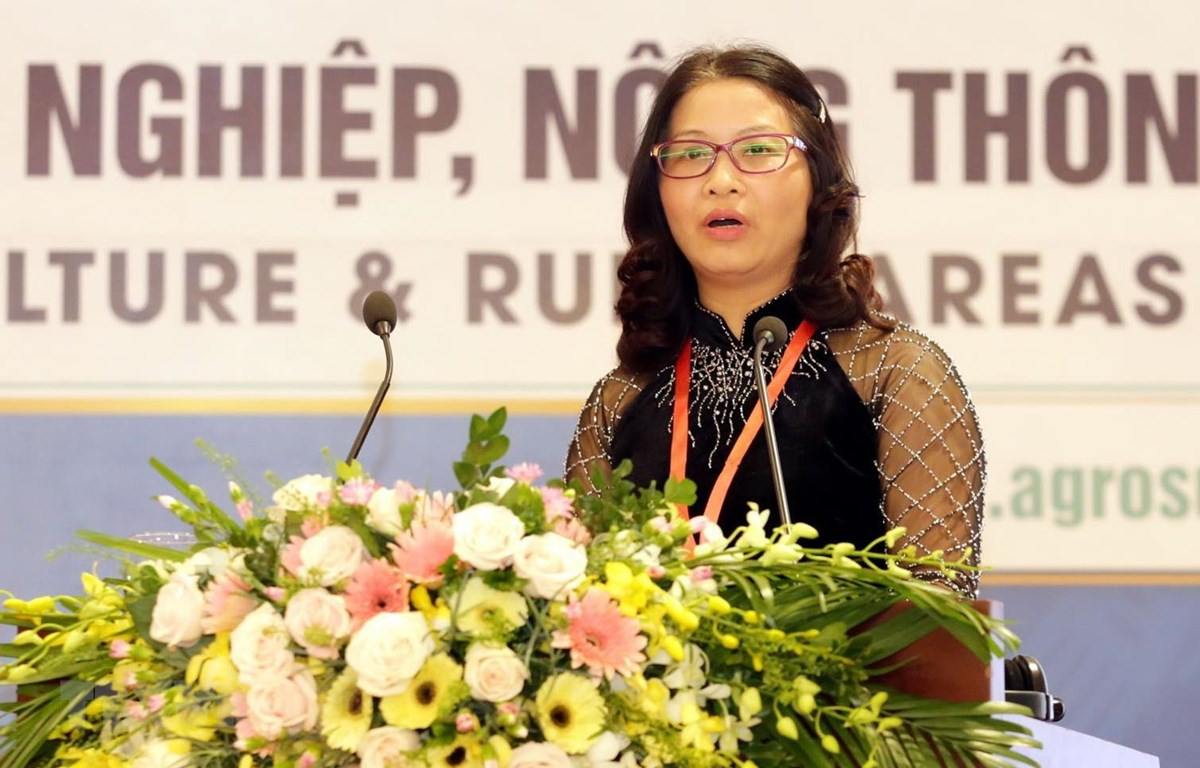 Giáo sư-tiến sỹ Nguyễn Thị Lan, Giám đốc Học viện Nông nghiệp Việt Nam. (Ảnh: Anh Tuấn/TTXVN)