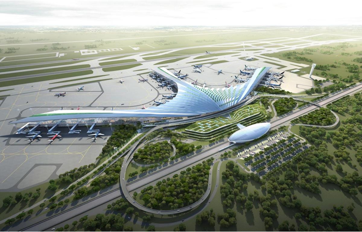 Một phương án kiến trúc cảng hàng không quốc tế Long Thành. (Nguồn: mt.gov.vn)