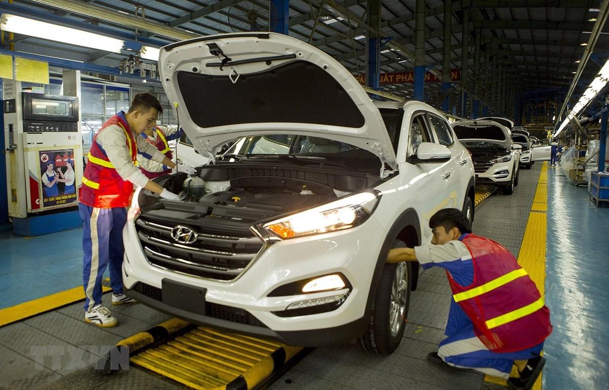 Nhà máy ôtô Hyundai, thuộc Tập đoàn Thành Công (Khu công nghiệp Gián Khẩu, tỉnh Ninh Bình). (Ảnh: Hoàng Hùng/TTXVN)