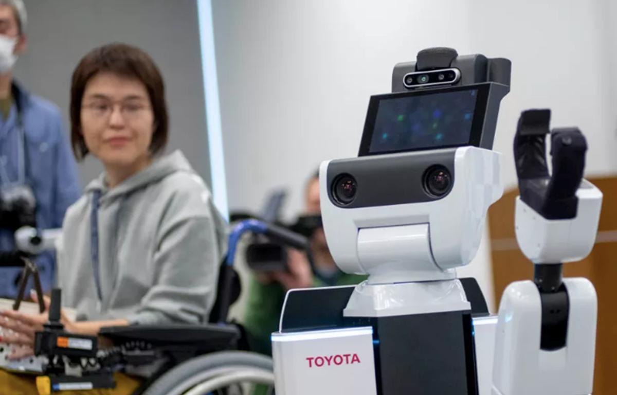Robot hỗ trợ con người HSR của Toyota. (Nguồn: Getty Images)