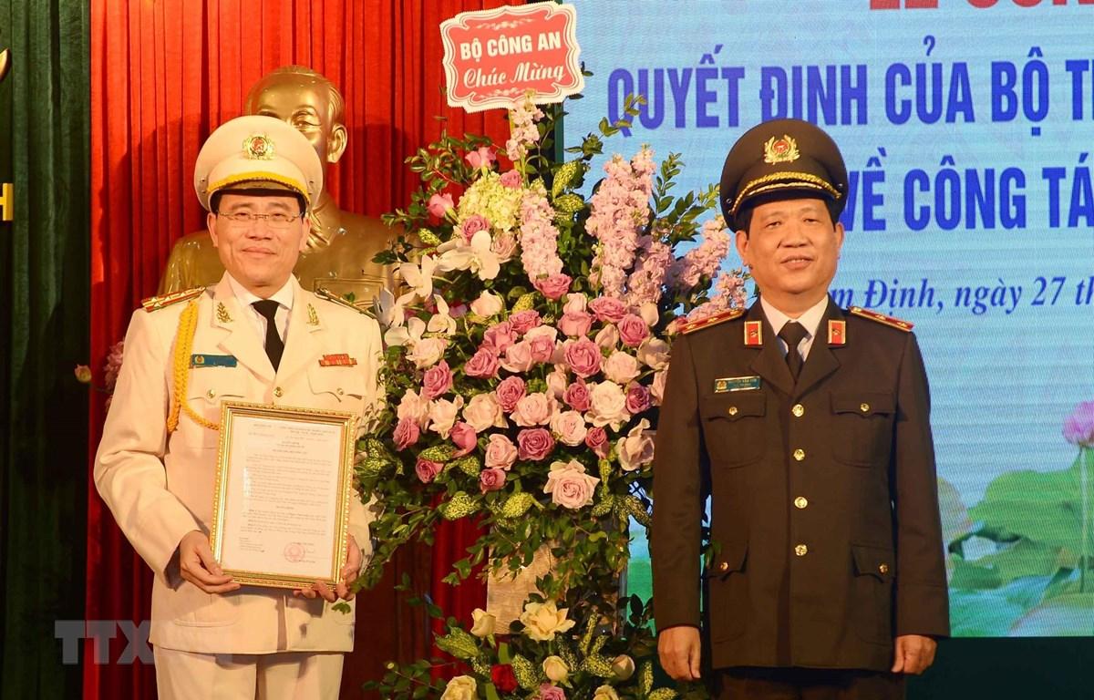 Công bố quyết định bổ nhiệm Giám đốc Công an tỉnh Nam Định