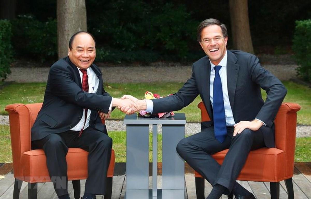 Thủ tướng Nguyễn Xuân Phúc hội đàm với Thủ tướng Hà Lan Mark Rutte, chiều 10/7/2017, tại thành phố La Haye. (Ảnh: Thống Nhất/TTXVN)