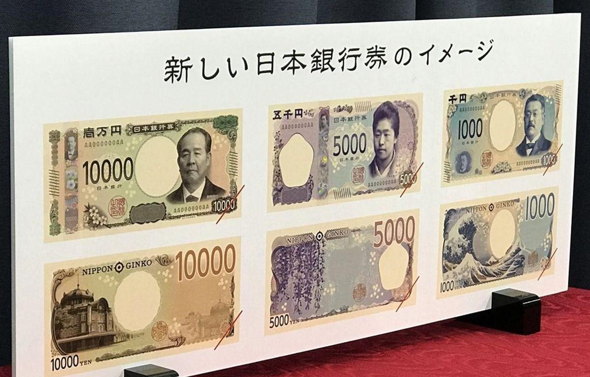 Các mẫu tiền giấy mời của Nhật Bản. (Nguồn: Bloomberg)