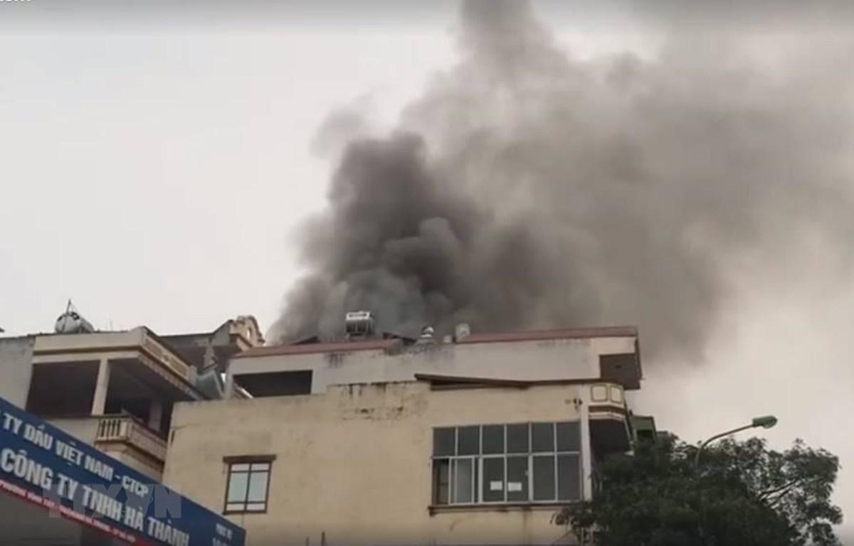 Hiện trường vụ hỏa hoạn. (Ảnh: Nguyễn Ngân/TTXVN phát)