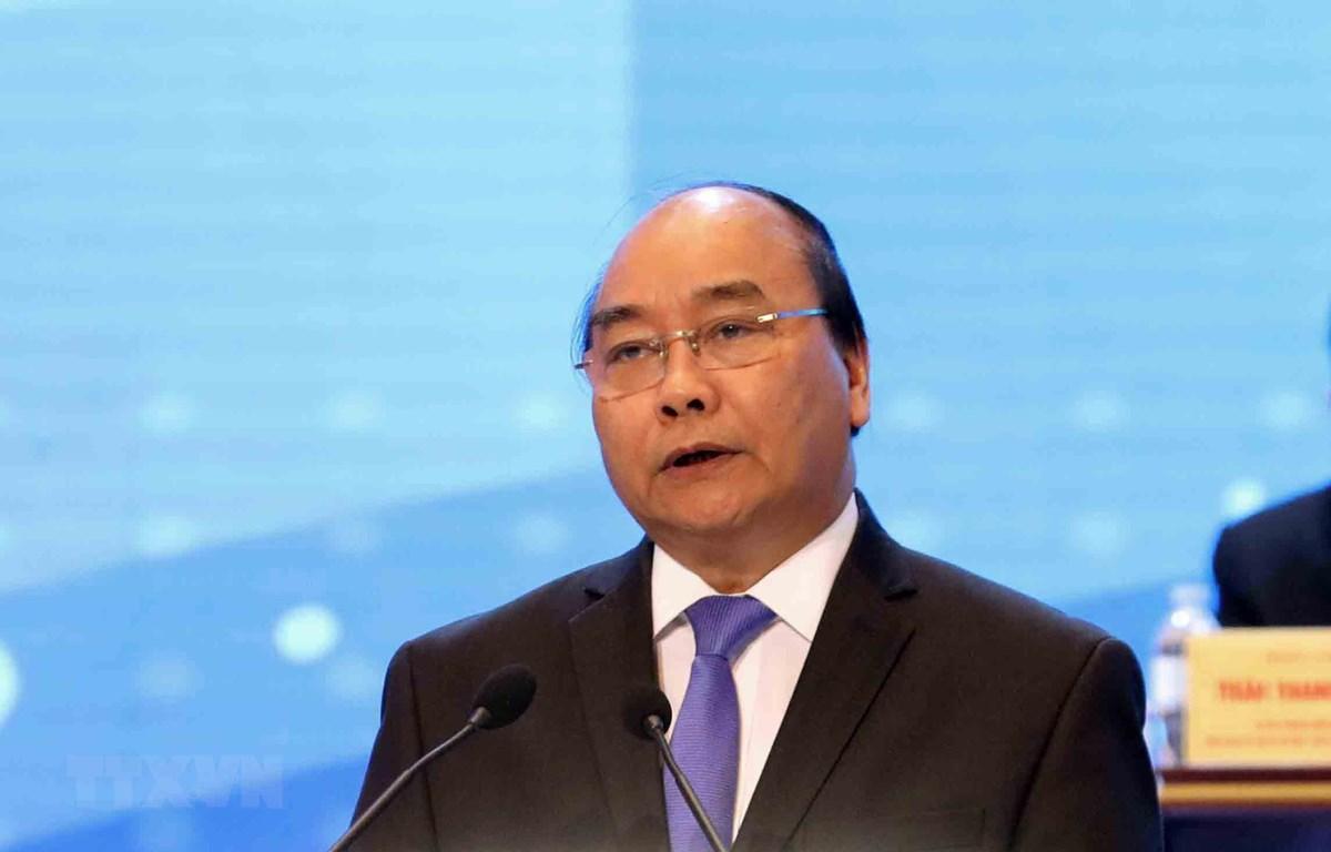 Thủ tướng Chính phủ Nguyễn Xuân Phúc phát biểu tại diễn đàn. (Ảnh: Phương Hoa/TTXVN)