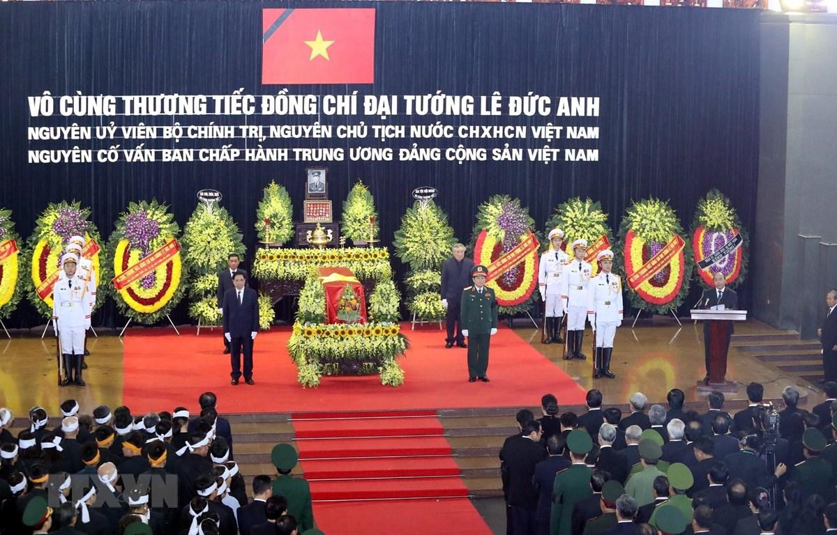 Lễ truy điệu nguyên Chủ tịch nước, Đại tướng Lê Đức Anh. (Nguồn: TTXVN)