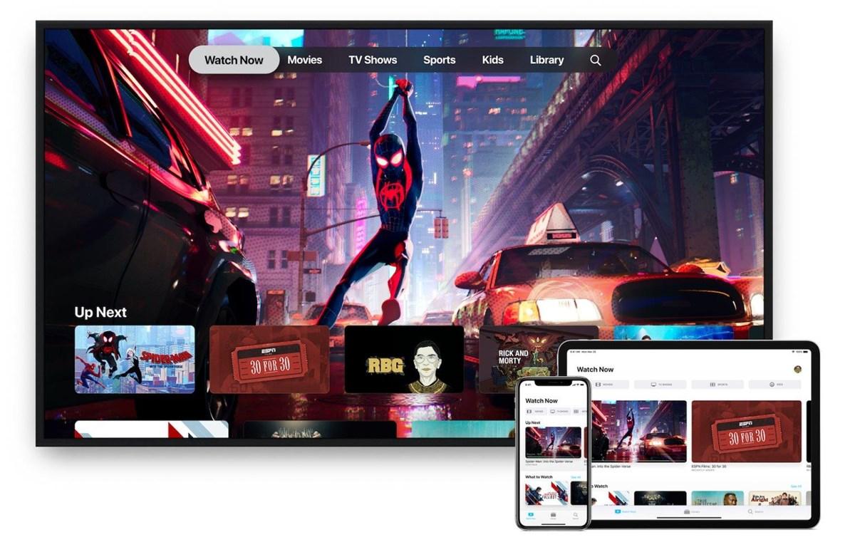 Giao diện ứng dụng Apple TV với Kênh Apple. (Nguồn: Apple)