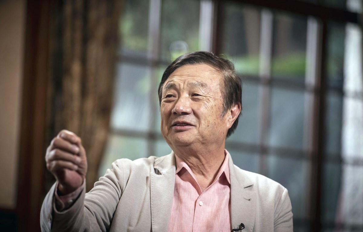 Người sáng lập tập đoàn Huawei Nhậm Chính Phi. (Nguồn: Bloomberg)
