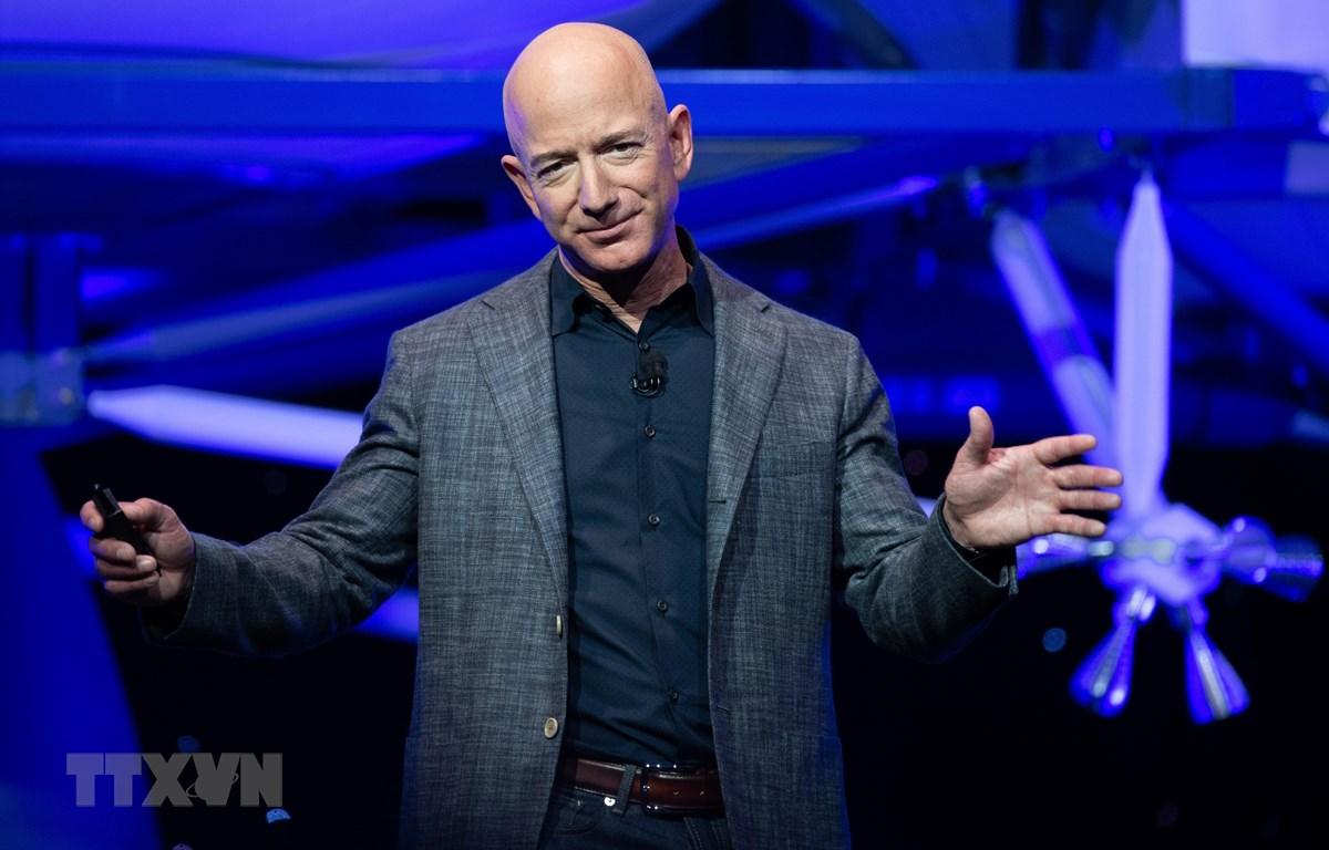 """Jeff Bezos - """"cha đẻ"""" của tập đoàn thương mại điện tử Amazon.com Inc. (Nguồn: AFP/TTXVN)"""