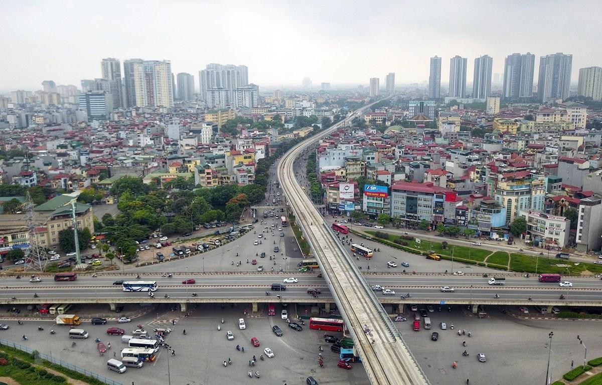 Tuyến đường sắt Nhổn-ga Hà Nội, tổng mức đầu tư ban đầu trên 36.000 tỷ đồng, từ nguồn vốn vay ODA của Ngân hàng Phát triển châu Á (ADB), Cơ quan Phát triển Pháp (AFD), Ngân hàng đầu tư châu Âu (EIB) và Chính phủ Pháp. (Ảnh: Thành Đạt/TTXVN)