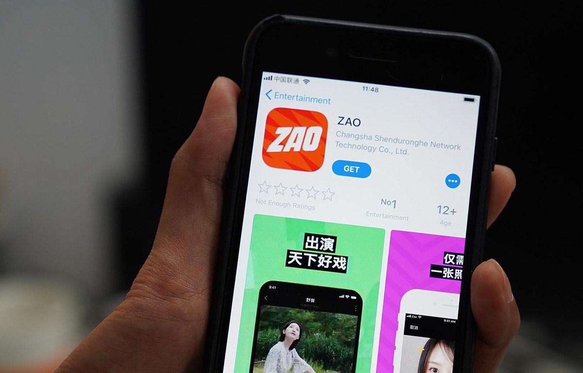 Zao đã nhanh chóng lọt vào top ứng dụng hàng đầu trong bảng xếp hạng ứng dụng miễn phí trên App Store iOS Trung Quốc. (Nguồn: pandaily.com)