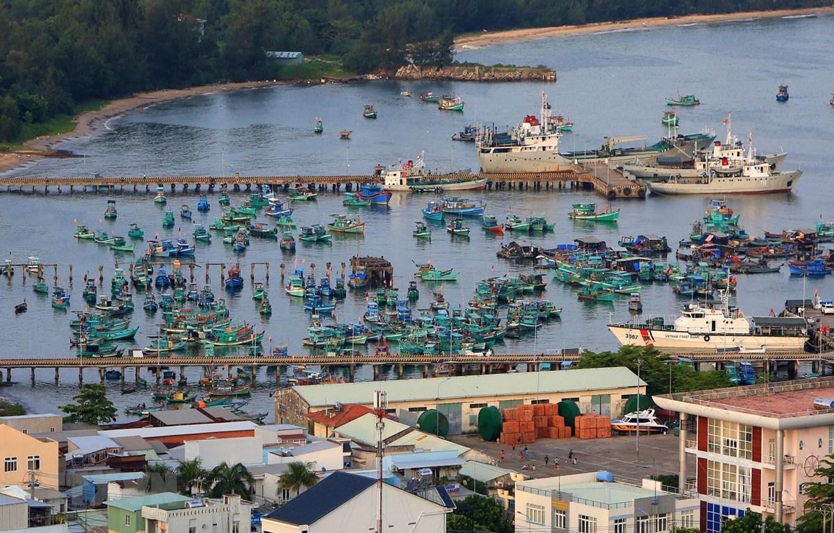 Tàu thuyền neo đậu tại cảng An Thới, huyện đảo Phú Quốc (Kiên Giang). (Ảnh: Ngọc Hà/TTXVN)