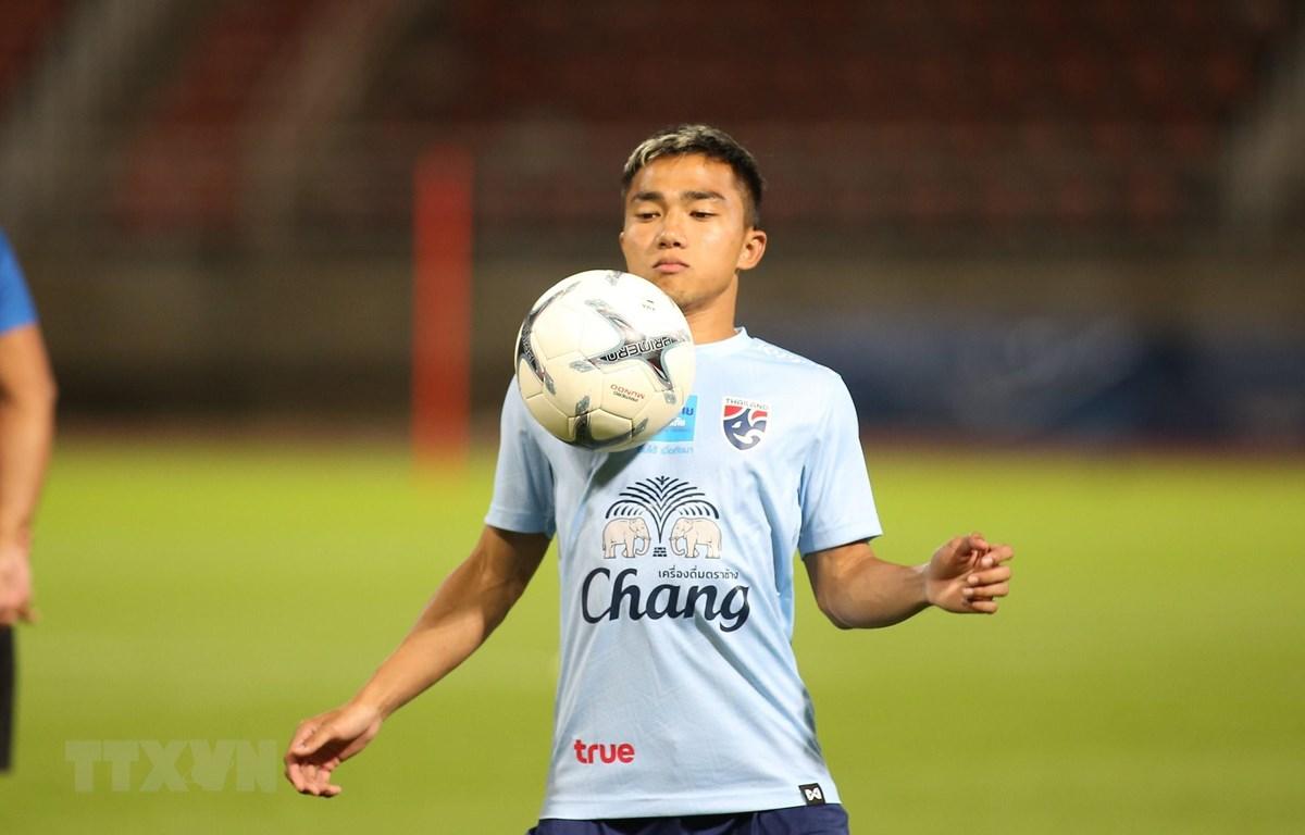 Tiền vệ Chanathip Songkrasin của đội tuyển Thái Lan đang chơi bóng ở J-League 1 của Nhật Bản. (Ảnh: Ngọc Linh/TTXVN)
