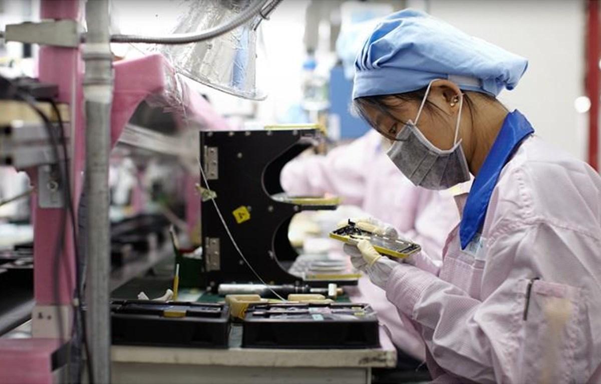 Công nhân làm việc trong nhà máy của Foxconn. (Nguồn: macrumors.com)