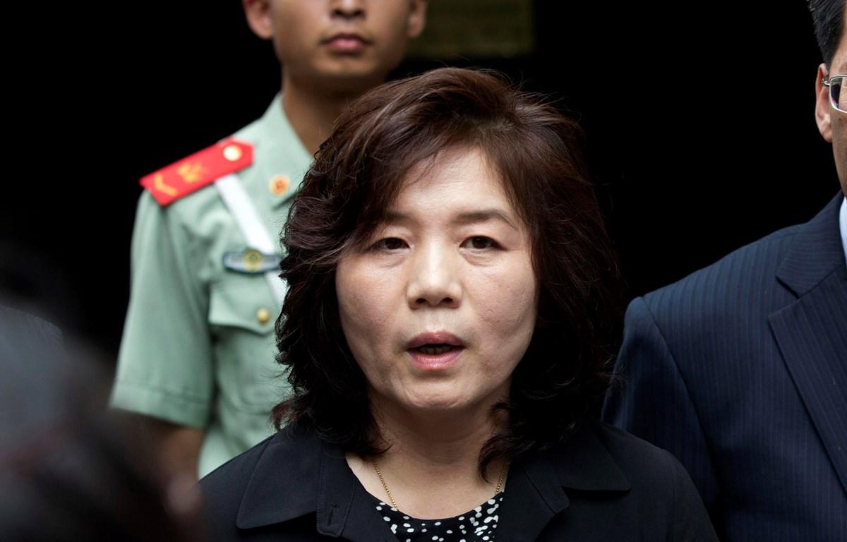 Thứ trưởng Ngoại giao Triều Tiên Choe Son-hui. (Nguồn: AP)