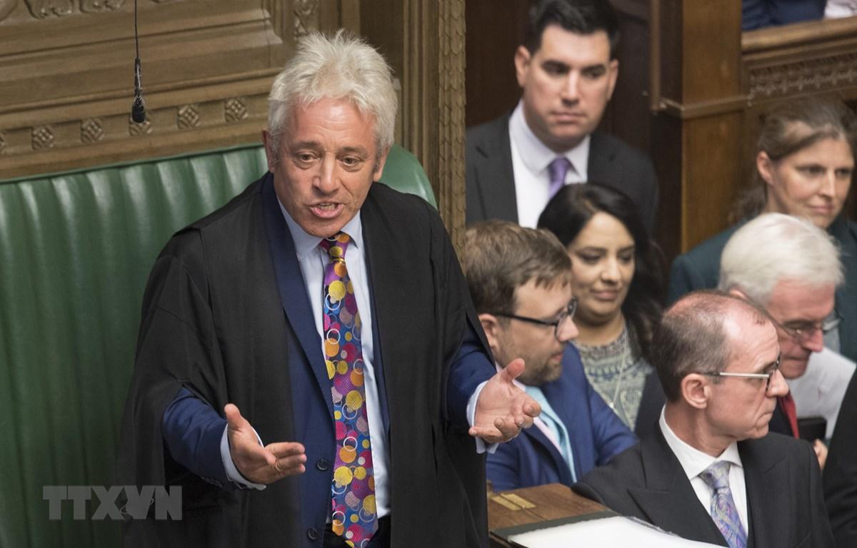Chủ tịch Hạ viện Anh John Bercow (trái) phát biểu tại phiên họp của Hạ viện ở London ngày 9/9/2019. (Nguồn: AFP/TTXVN)