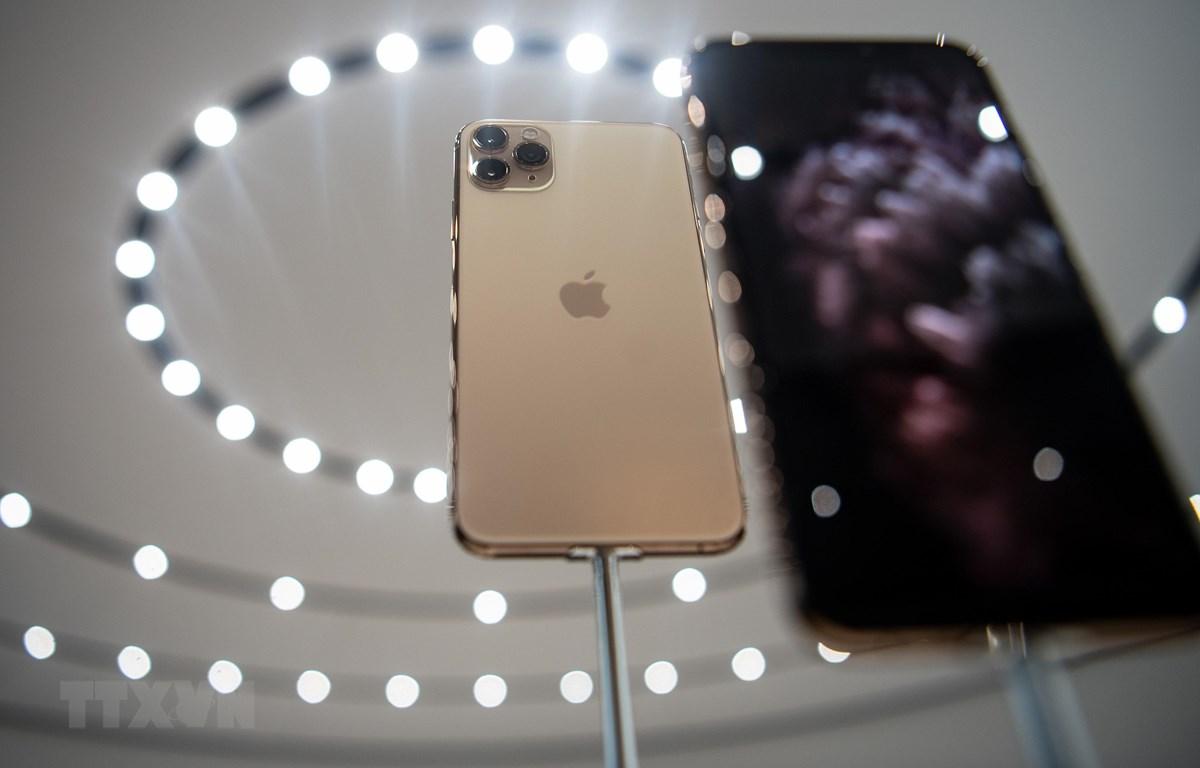Mẫu điện thoại thông minh mới iPhone 11 Pro được giới thiệu trong buổi ra mắt tại trụ sở của tập đoàn Apple ở Cupertino, bang California (Mỹ) ngày 10/9. (Nguồn: AFP/TTXVN)