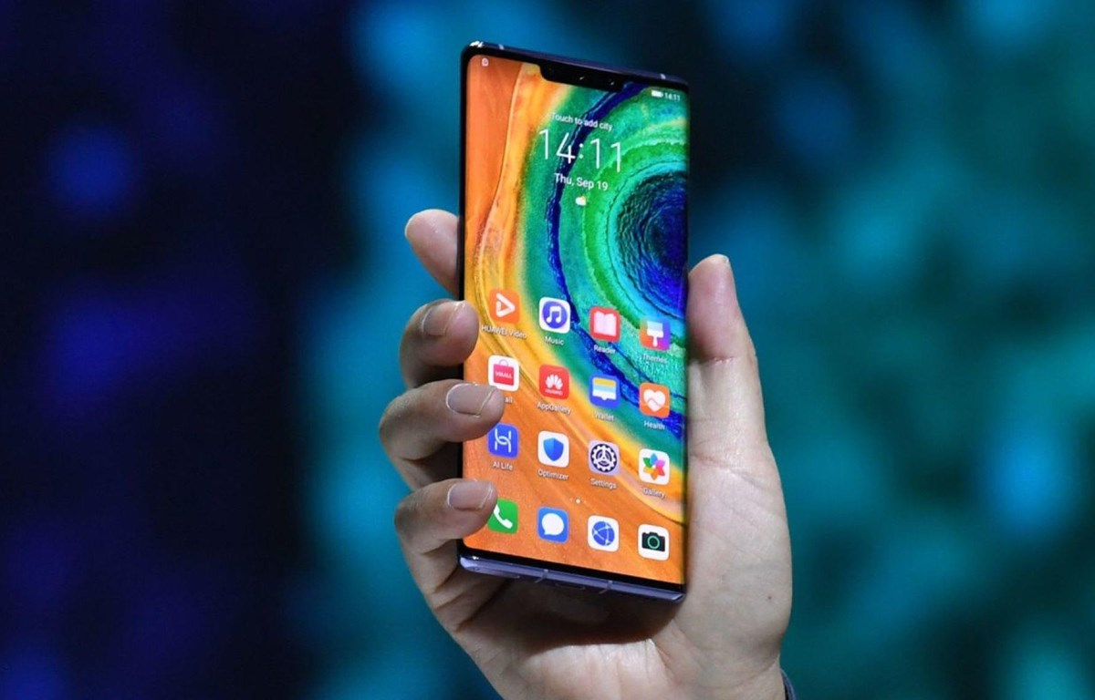 Điện thoại Huawei Mate 30. (Nguồn: Sky news)