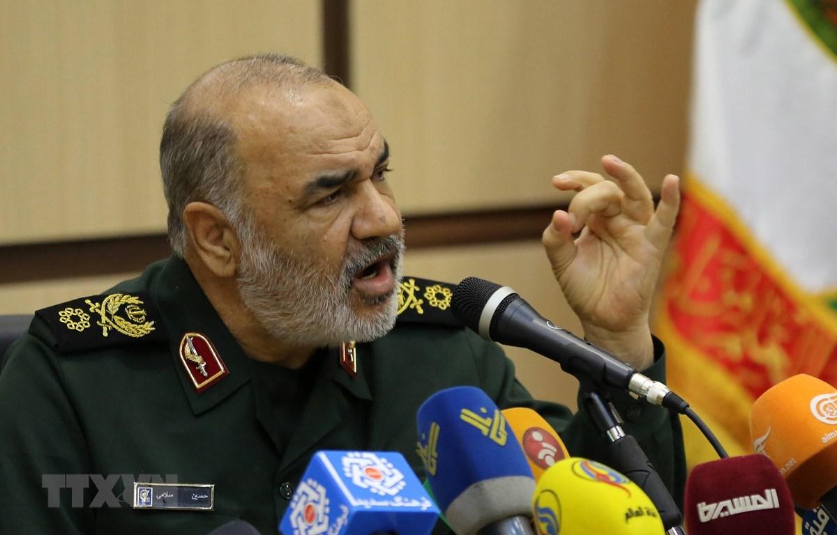 Thiếu tướng Hossein Salami, Tư lệnh Lực lượng Vệ binh Cách mạng Hồi giáo Iran (IRGC). (Nguồn: AFP/ TTXVN)