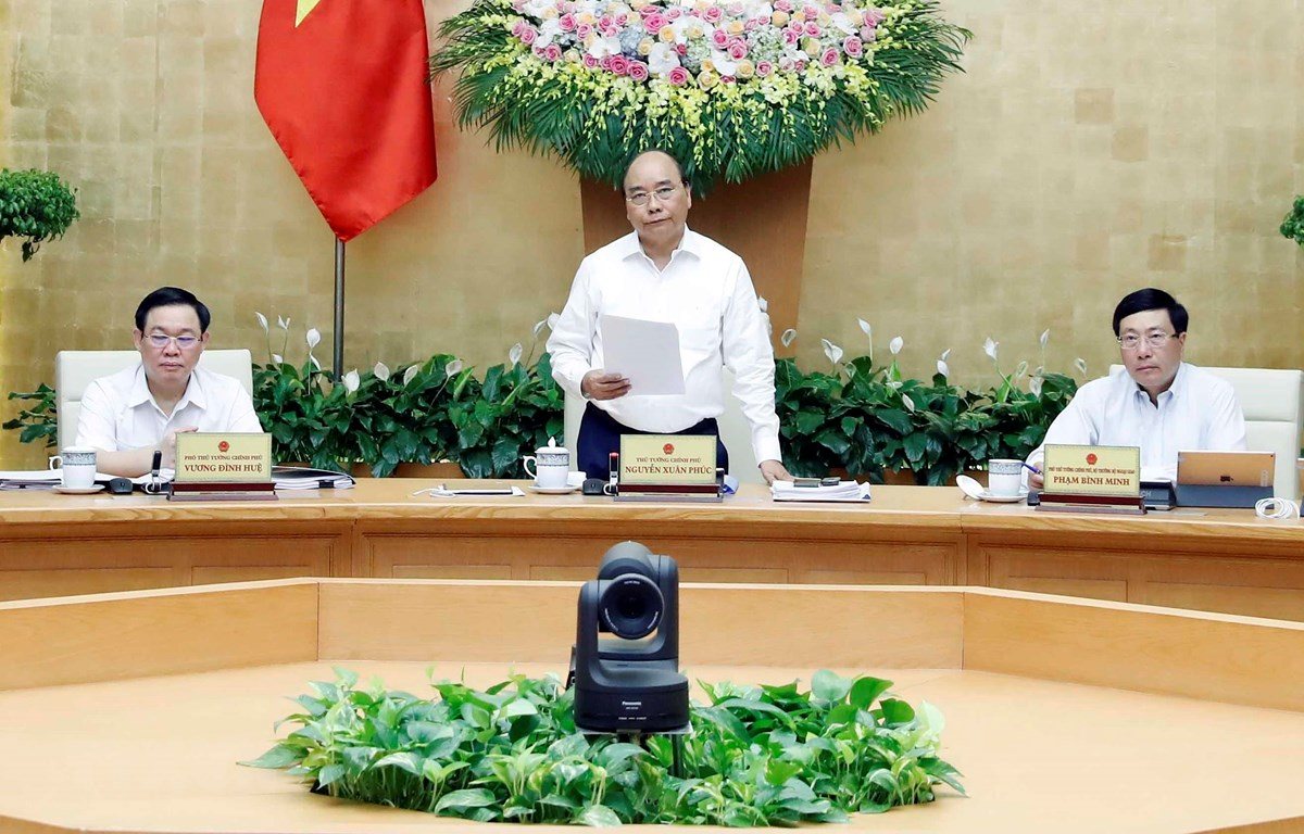 Thủ tướng Chính phủ Nguyễn Xuân Phúc chủ trì phiên họp Chính phủ thường kỳ tháng 9. (Ảnh: Thống Nhất/TTXVN)