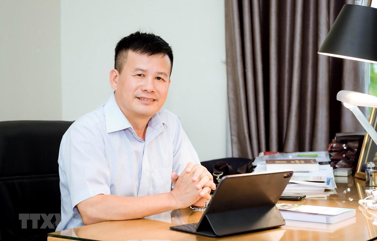 Anh Phạm Hồng Điệp, Chủ tịch Hội đồng quản trị kiêm Tổng Giám đốc Công ty Cổ phần SHINEC, chủ nhân của dự án khu dân cư xanh, khu công nghiệp xanh tại Hải Phòng. (Nguồn: TTXVN phát)