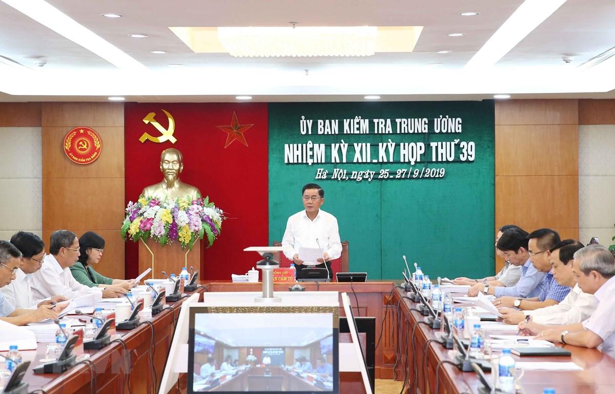 Quang cảnh kỳ họp Ủy ban kiểm tra Trung ương. (Ảnh: Phương Hoa/ TTXVN)