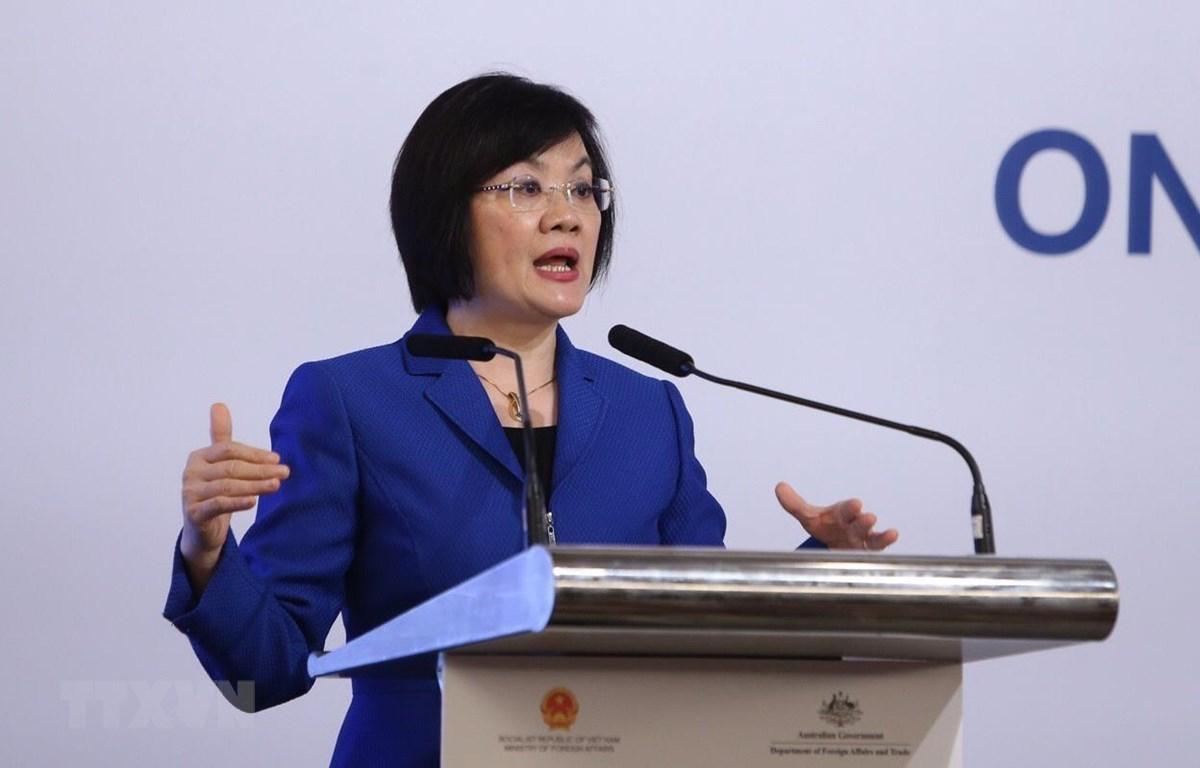 Đại sứ Nguyễn Nguyệt Nga. (Ảnh: Dương Giang/TTXVN)
