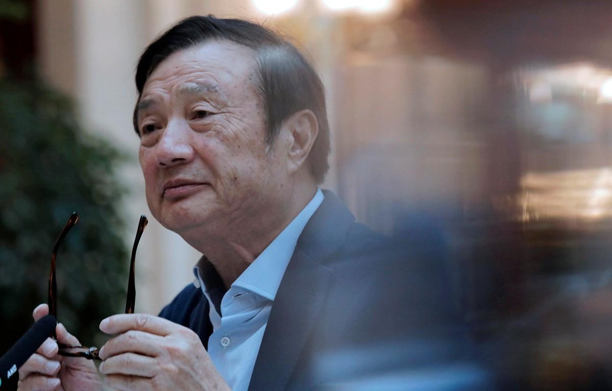 Nhà sáng lập, CEO Huawei Nhậm Chính Phi. (Nguồn: AFP)