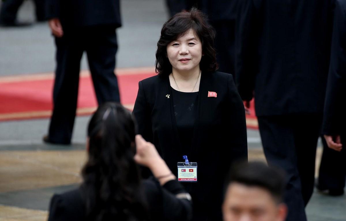 Thứ trưởng Thứ nhất Bộ Ngoại giao Triều Tiên Choe Son-hui. (Nguồn: AFP)