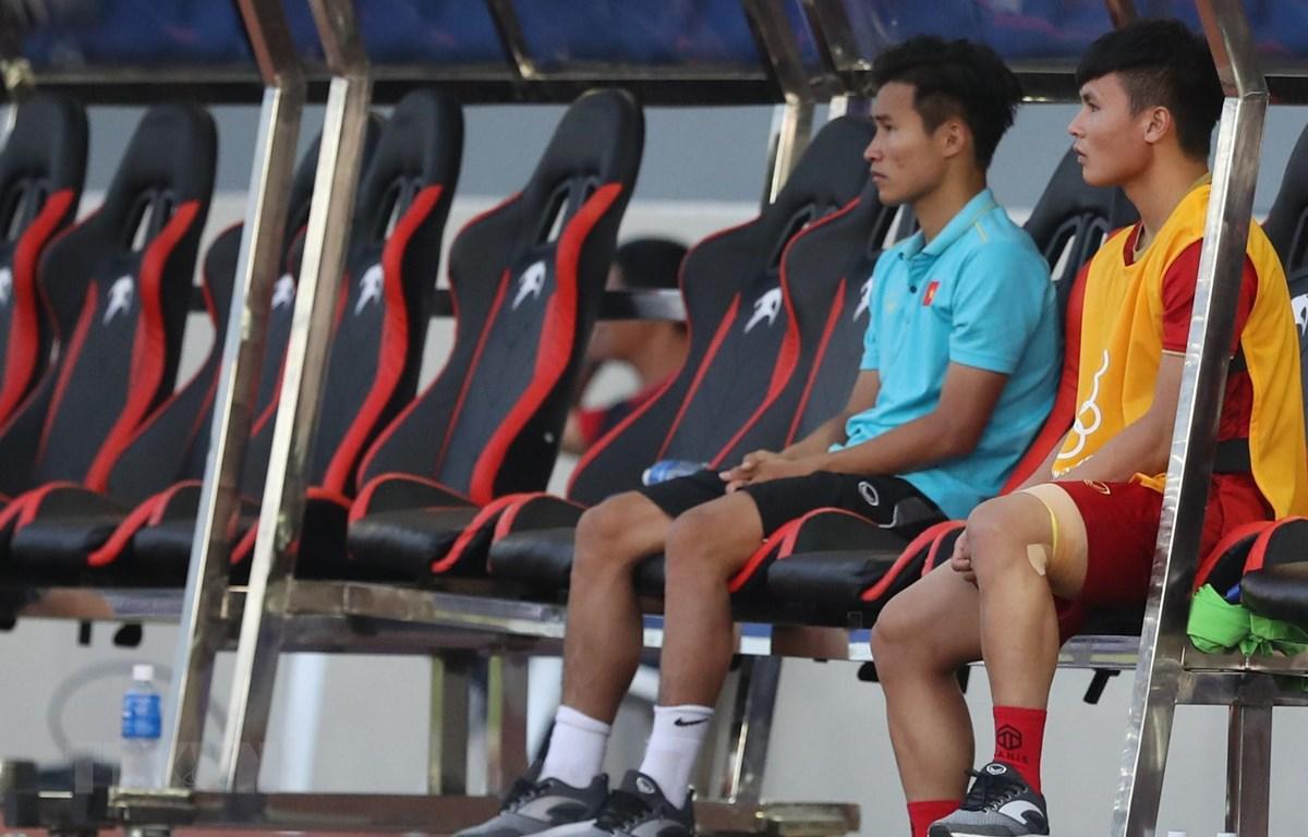 Tiền vệ Quang Hải có thể trở lại ở chung kết, ông Park cho biết. (Ảnh: Hoàng Linh/TTXVN)