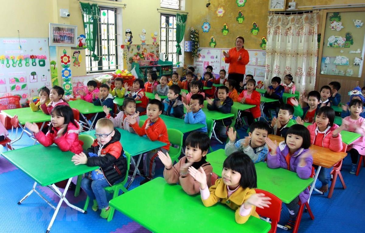 Lớp học mầm non tại xã Đông Phương, huyện Đông Hưng, Thài Bình. Ảnh minh họa. (Ảnh: Thế Duyệt/TTXVN)