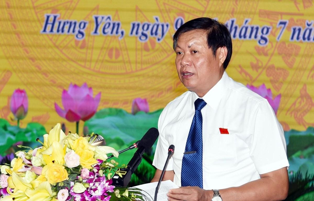 Ông Đỗ Xuân Tuyên, Phó Bí thư Thường trực tỉnh ủy, Chủ tịch Hội đồng nhân dân tỉnh Hưng Yên, được Thủ tướng bổ nhiệm giữ chức vụ Thứ trưởng Bộ Y tế. (Ảnh: Đinh Tuấn/TTXVN)