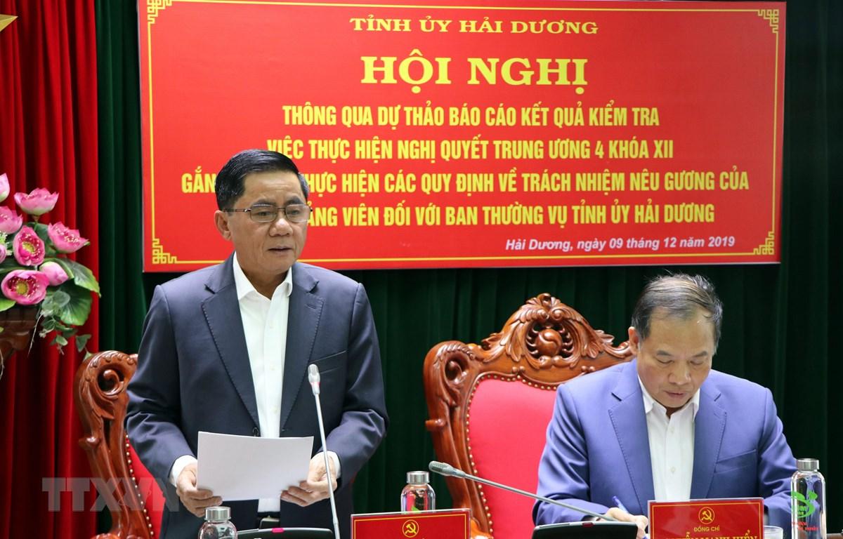 Ông Trần Cẩm Tú phát biểu tại hội nghị. (Ảnh: Mạnh Tú/TTXVN)