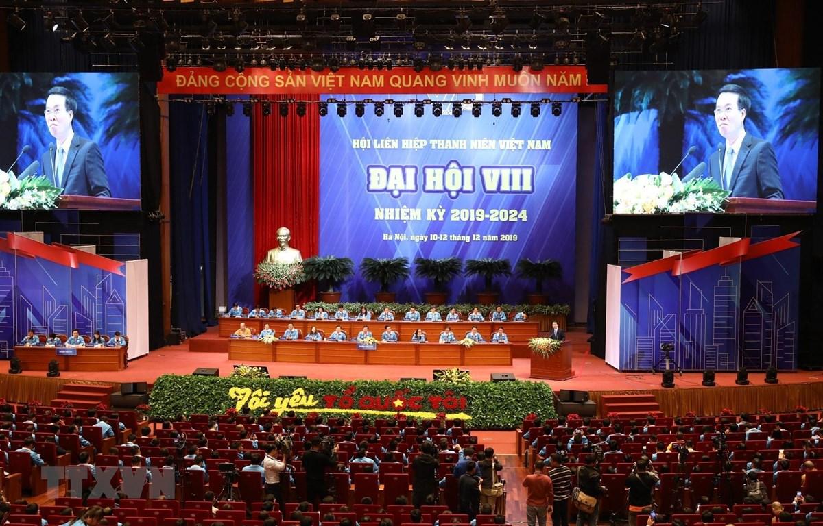 Ông Võ Văn Thưởng, Ủy viên Bộ Chính trị, Bí thư Trung ương Đảng, Trưởng Ban Tuyên giáo Trung ương thông tin chuyên đề về một số vấn đề định hướng phát triển Việt Nam đến năm 2030, tầm nhìn 2045. (Ảnh: Văn Điệp/TTXVN)