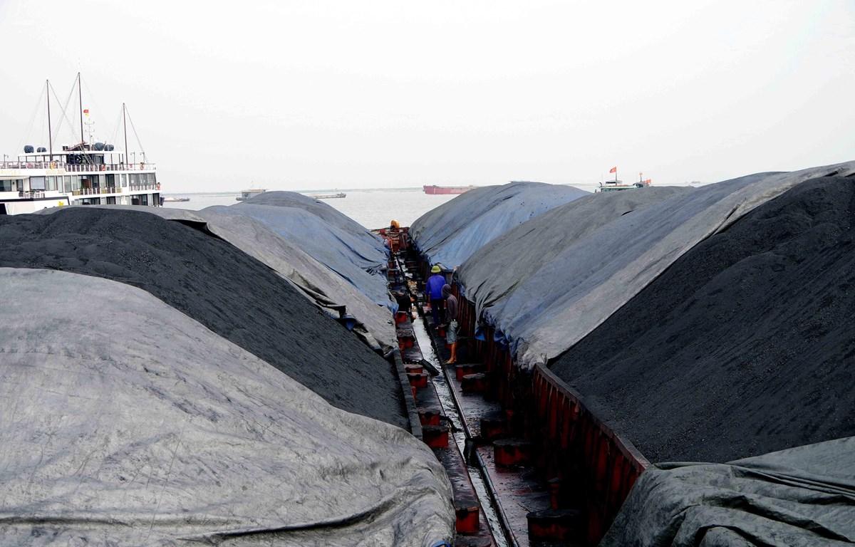 4 sà lan chở 3000 tấn than đã bị tạm giữ để điều tra. (Nguồn: TTXVN phát)